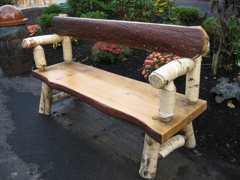 A new wooden bench near Untamed.