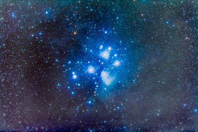 M45 Pleiades Star Cluster, the Seven Sisters
