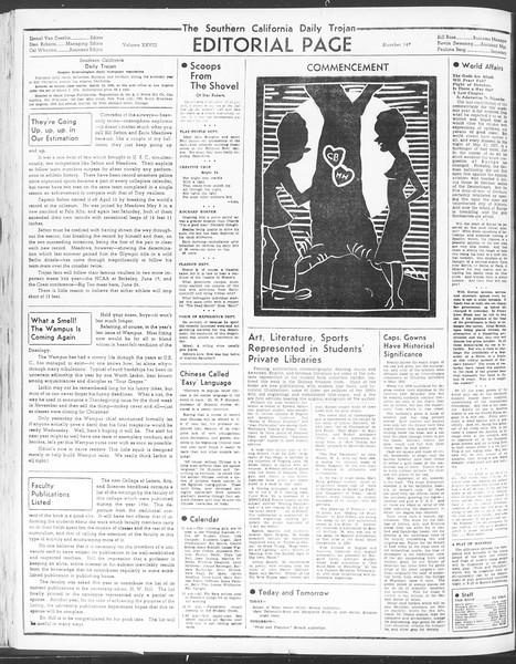 Daily Trojan, Vol. 28, No. 147, June 01, 1937