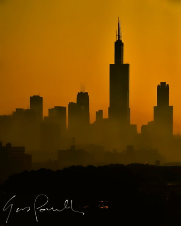Chicago Sunrise from the west