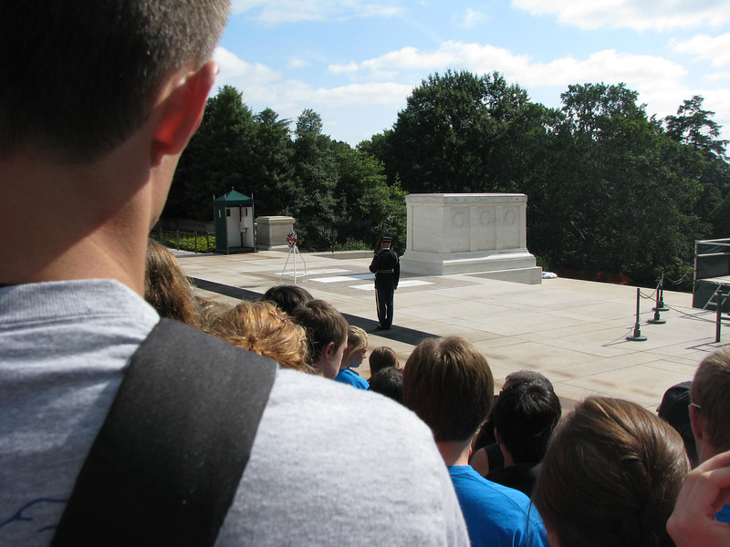 Changing of the guards at the Tomb of the Unknown Soldier ... Did you know the soldier from the Vietnam war was later exhumed and identified? He was laid to rest with his family, so that tomb will remain empty.