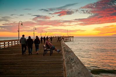 Ventura Pier, Promenade, Harbor, Beaches and Surfing