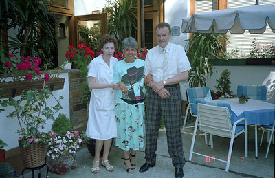The owners of the B&B we stayed at a few days while in Vienna.  They were a very nice couple and had two very nice daughters that we met.  The mom looked very frail to me.