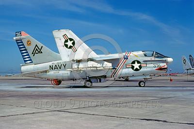 U.S. Navy A-7 Corsair II Airplanes in Bicentennial Color Scheme
