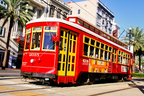 New Orleans Historic Streetcars - Canal Street & St. Charles Street Lines