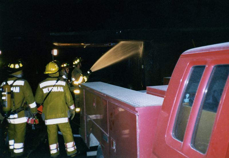 Langstan Houese Garage Fire