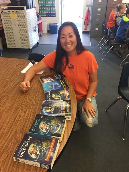 Mrs Fujitani's Dictionaries Over the Years_Villa Park Elementary.JPG