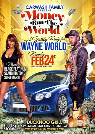 CAR WASH WAYNE MONEY RUNS THE WORLD BIRTHDAY BASH 2020