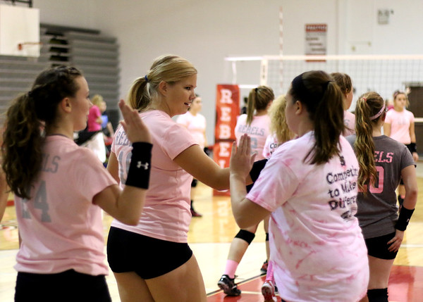 SNHS Volleyball vs Milford - Pink Out 2014