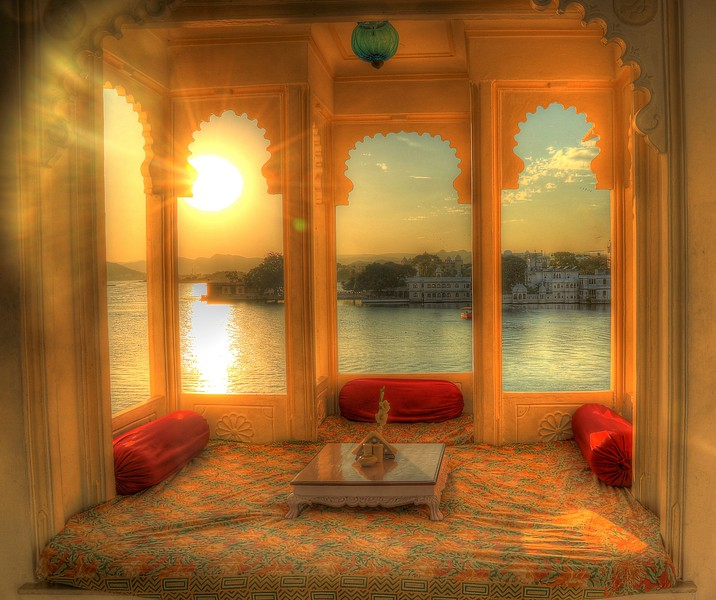 Sunset view from Jagat Niwas Palace - Udaipur