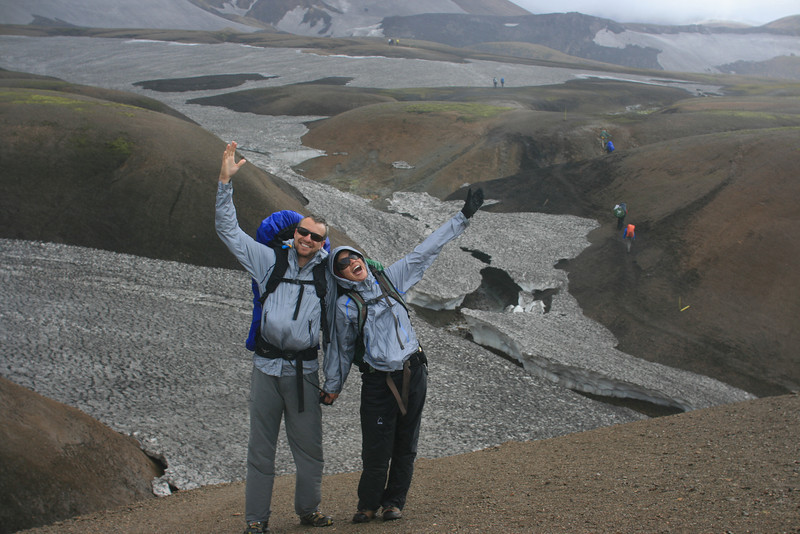 Shane & Jayna embrace the day and beautiful country of Iceland!