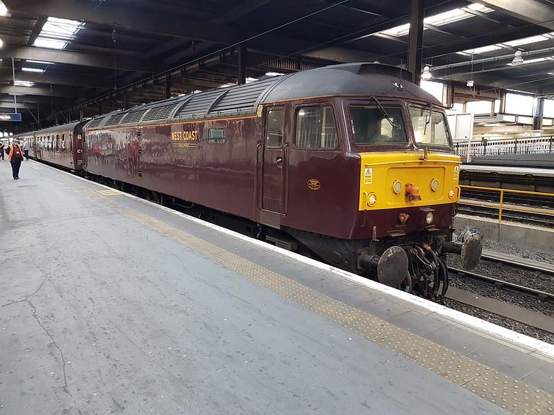 47237 at Euston having bought in the ECS for the Euston-Carlisle charter.
