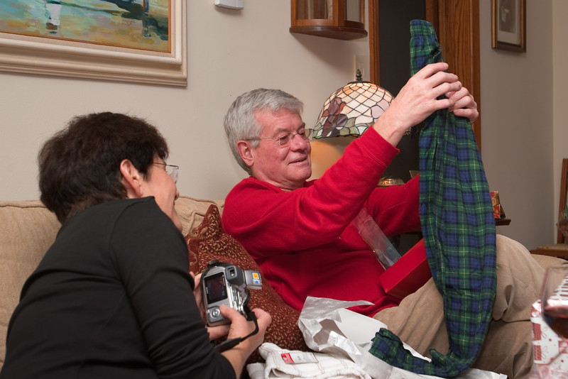 Don opens some of his gifts