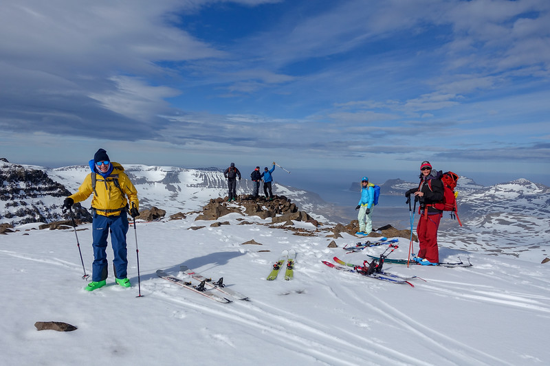 We found a local summit on Day 3. This is looking North, and beyond the spit of land there is nothing until the north pole. We're just a few miles south of the Arctic circle here.