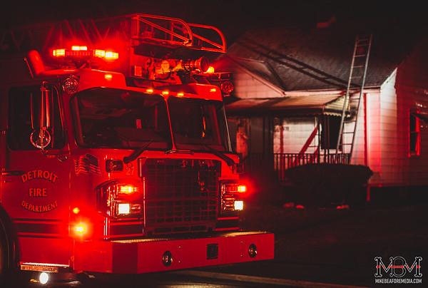 Detroit MI, House Fire 3-18-2020