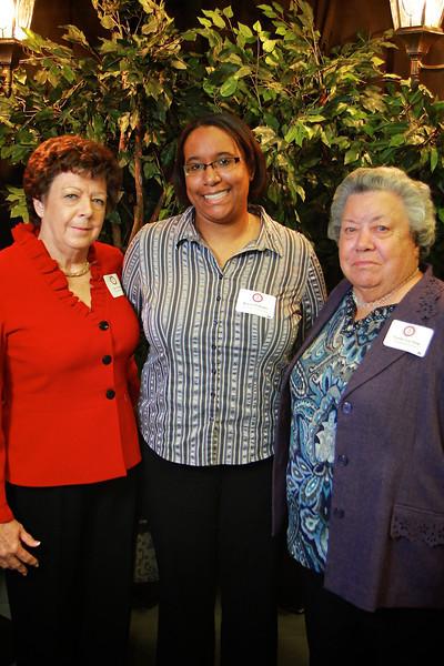Kayla Williams, Vertie Lee Sain, Lois Norman. Scholarship Luncheon at Gardner-Webb University.