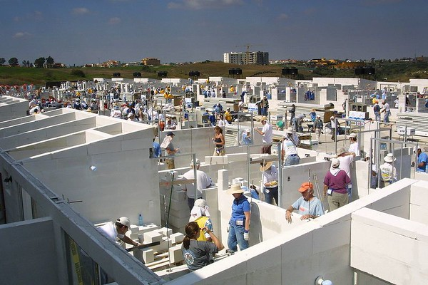 Habitat for Humanity, Jimmy Carter Work Project, Puebla, Mexico