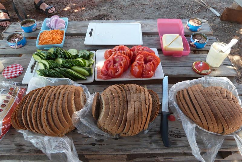 Picnic lunch still life
