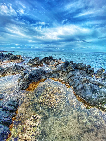 Tidal Pool on the coast of Kiehe in Maui