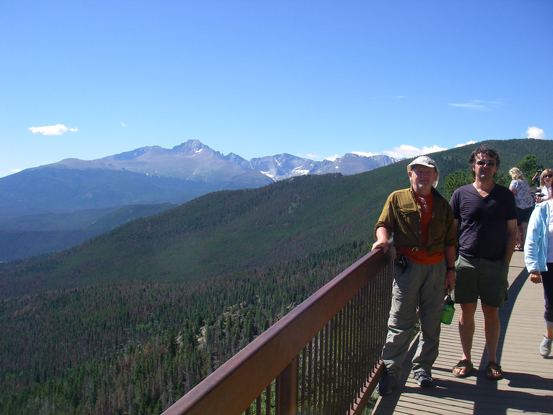 We were back to Loveland, CO the same day. The next day we spent in Rocky Mounatin National Park - Longs Peak (14,259ft = 4.346m) behind us.