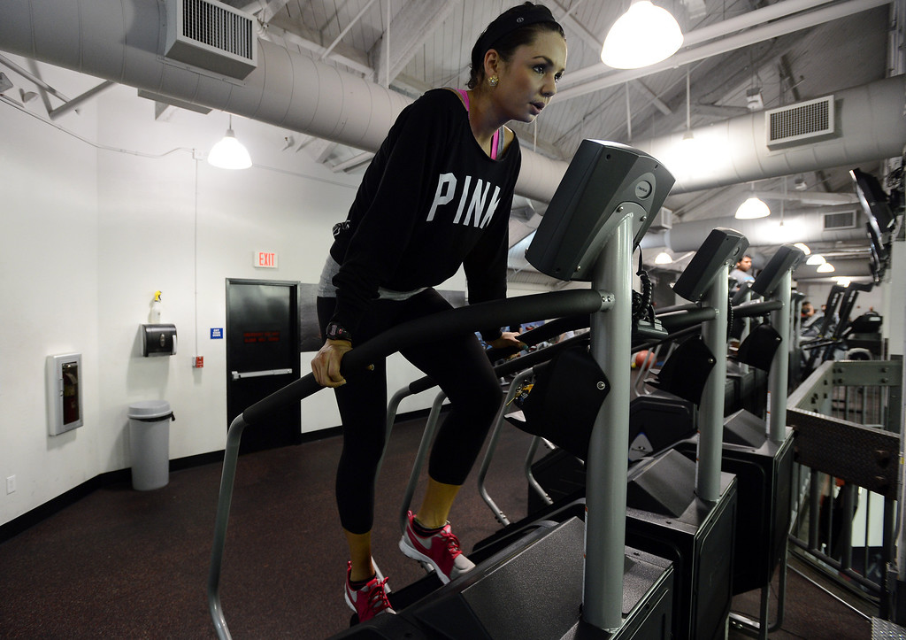 . Sarah Wright works out at the UFC gym in Concord, Calif. on Monday, Jan. 7, 2013. (Kristopher Skinner/Staff)