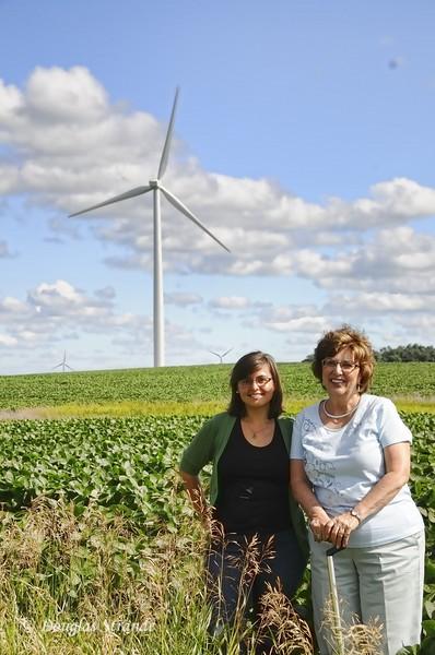 2010   Ruth & Louise with Turbine