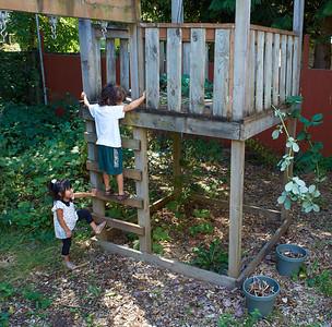Playing with Lorena at Grandma's house