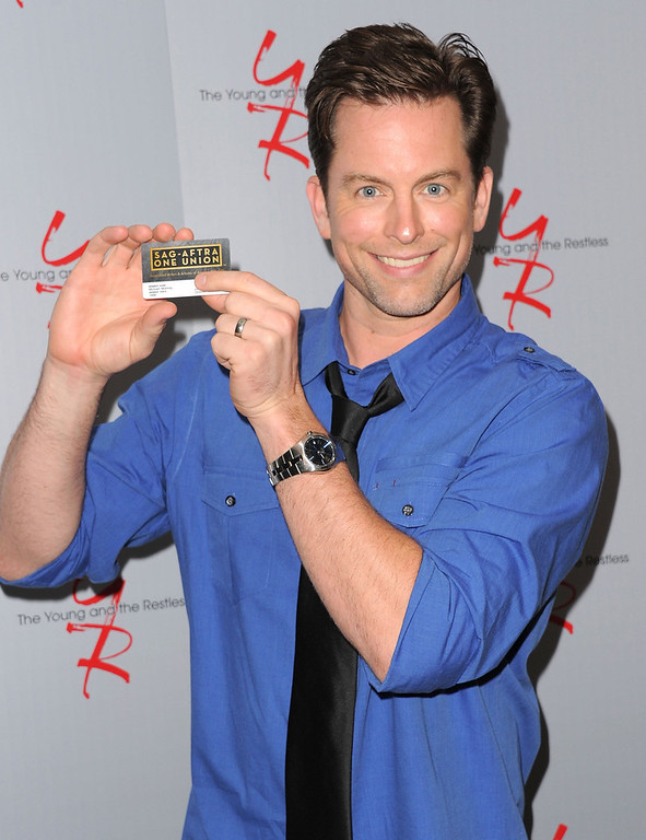 ". Actor Michael Muhney attends the 40 years of ""The Young and The Restless\"" celebration presented by SAG-AFTRA at SAG-AFTRA on June 4, 2013 in Los Angeles, California.  (Photo by Angela Weiss/Getty Images)"