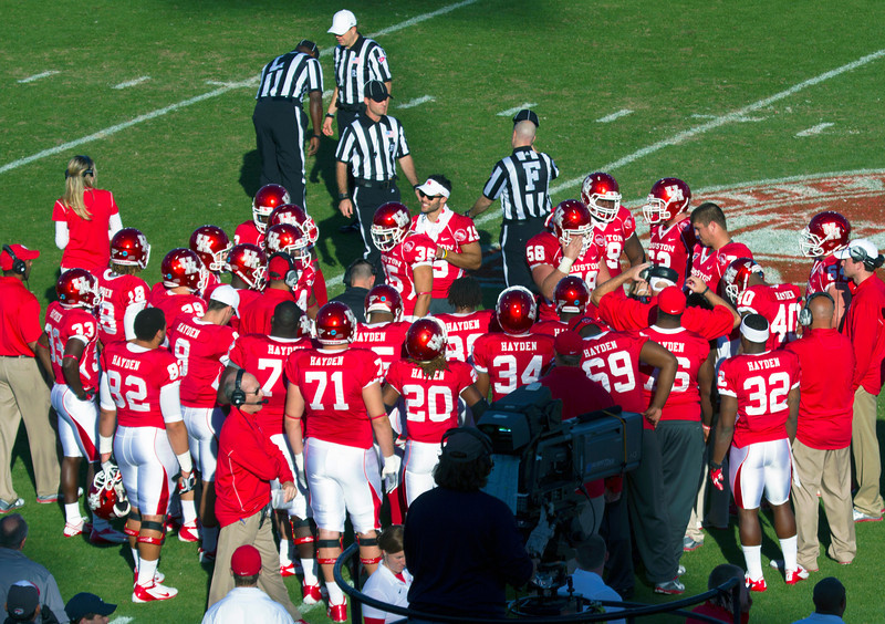 The UH team.  Notice, every player carries the name of D. J. Hayden