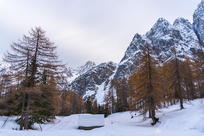 Kranjska Gora and Vršič pass in snow - Nov 11, 2017