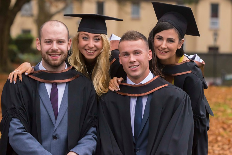 30/10/2015. Waterford Institute of Technology Conferring. Pictured are Marcus Gannon-Stephenson, Slieve Rue, Christine Healy, Kilkenny, Mathew O'Rourke, Kill and Elanna Forrestal, Waterford. Picture: Patrick Browne