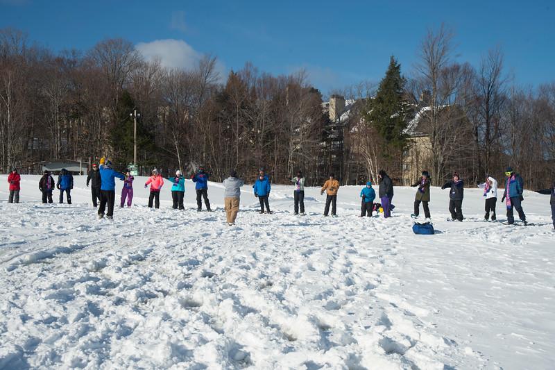 1. SNOWSHOEING
