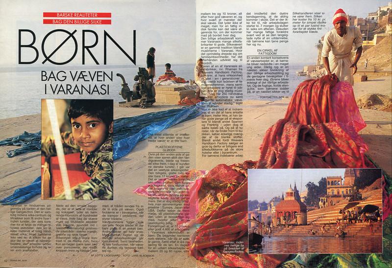 Børn Bag Væven i Varanasi