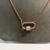 Marla Aaron Stoned Lock for Jewels by Grace Exclusive, Rose Gold 25