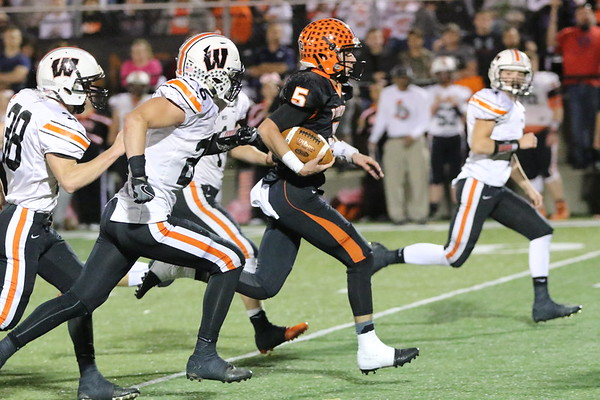 10d Football: West at Wheelersburg 2017: FOURTH Quarter