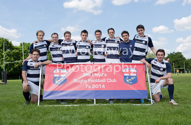 Lloyd's Rugby 7's Tournament. Richmond Athletic Ground. 15th May 2014. Team: HFW