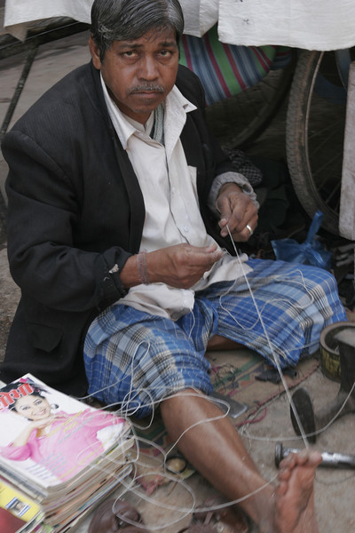 Tailor in Calcutta, Kolkata street, India