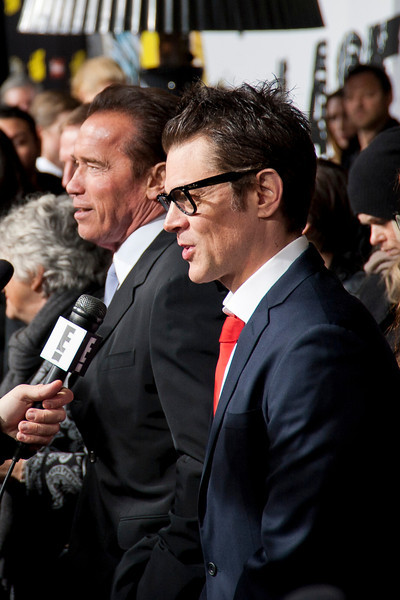 HOLLYWOOD, CA - JANUARY 14: Actors Arnold Schwarzenegger, Johnny Knoxville and Peter Stormare arrive at the premiere of Lionsgate Films' 'The Last Stand' at Grauman's Chinese Theatre on Monday, January 14, 2013 in Hollywood, California. (Photo by Tom Sorensen/Moovieboy Pictures)