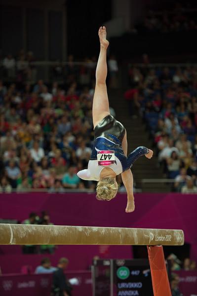 Annika Urvikko at London olympics 2012__29.07.2012_London Olympics_Photographer: Christian Valtanen_London_Olympics_Annika Urvikko at London olympics 2012_29.07.2012__ND49832_Annika Urvikko, finnish athlete, gymnastics