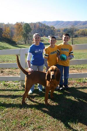 Football Twins and Dog