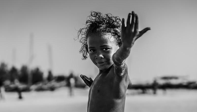 On the Beach in Madagascar