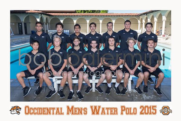 Oxy Men's Water Polo 2015 Team Photo