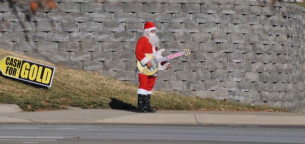 Santa Plays a Guitar