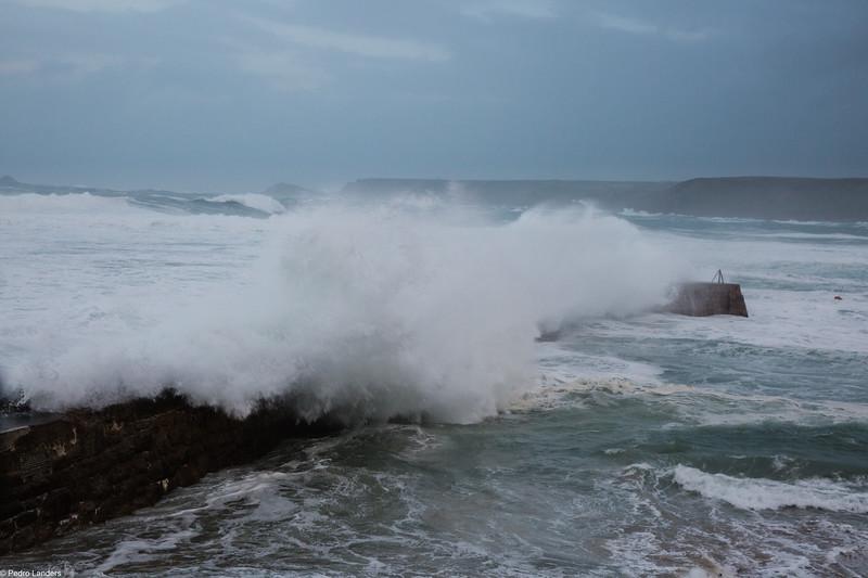 Storm Brian at Sennen Cove