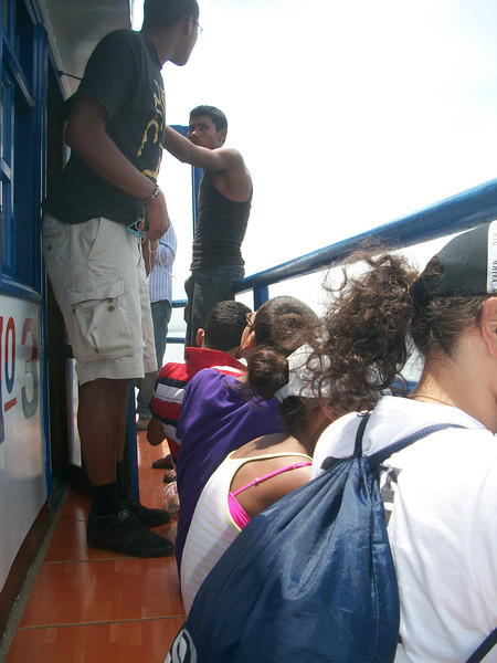 The Boat was PACKED with people EVERYWHERE!!!!