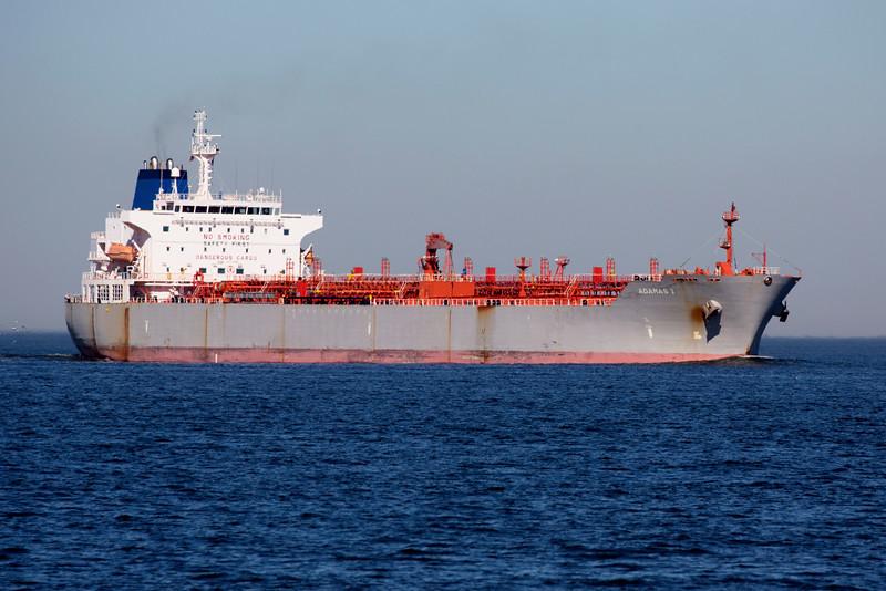 The Tanker Adamas1 -- around 30,000 tons.