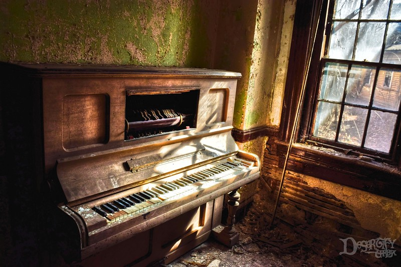 Old Piano at a Mental Asylum