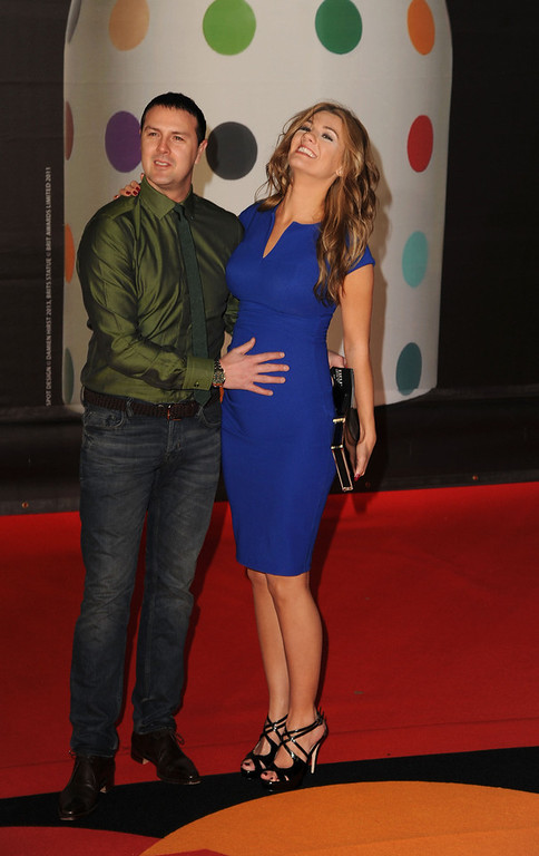 . Paddy McGuinness and Christine McGuinness attend the Brit Awards 2013 at the 02 Arena on February 20, 2013 in London, England.  (Photo by Eamonn McCormack/Getty Images)