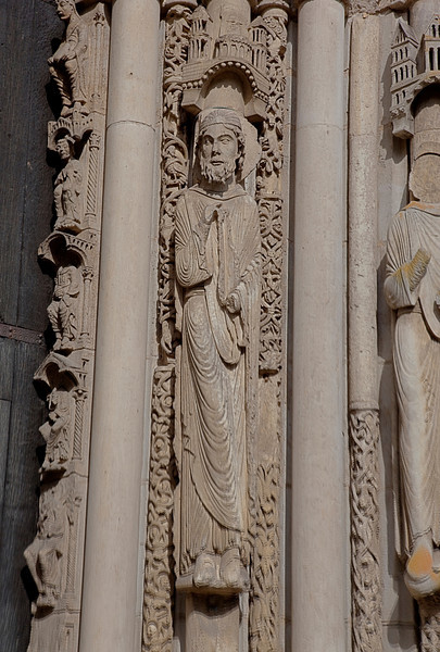 Chartres Cathedral West Facade Jamb Figure