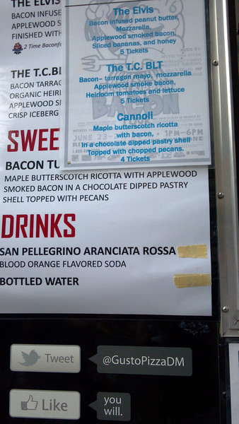 Check out this fabulous bacon menu!